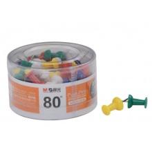 新万博登录页办公用彩色工字钉PVC筒装ABS92606